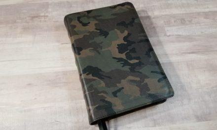 CBP Handsize Text Bible in Camo Print Calfskin