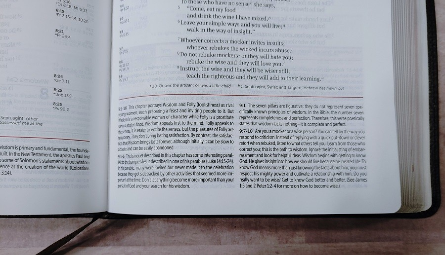 Personal Size NIV Life Application Study Bible Notes