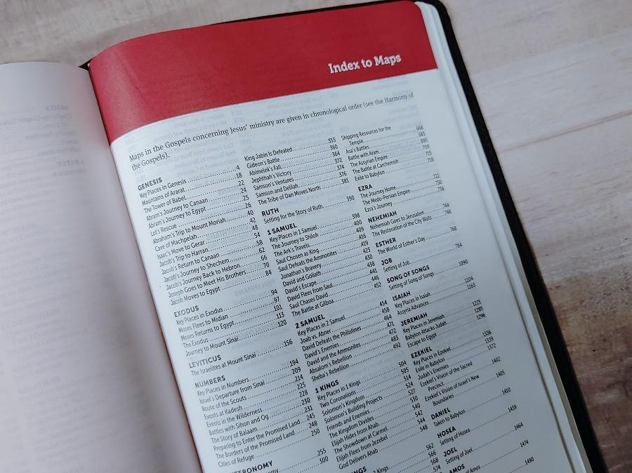 Personal Size NIV LASB Map Index