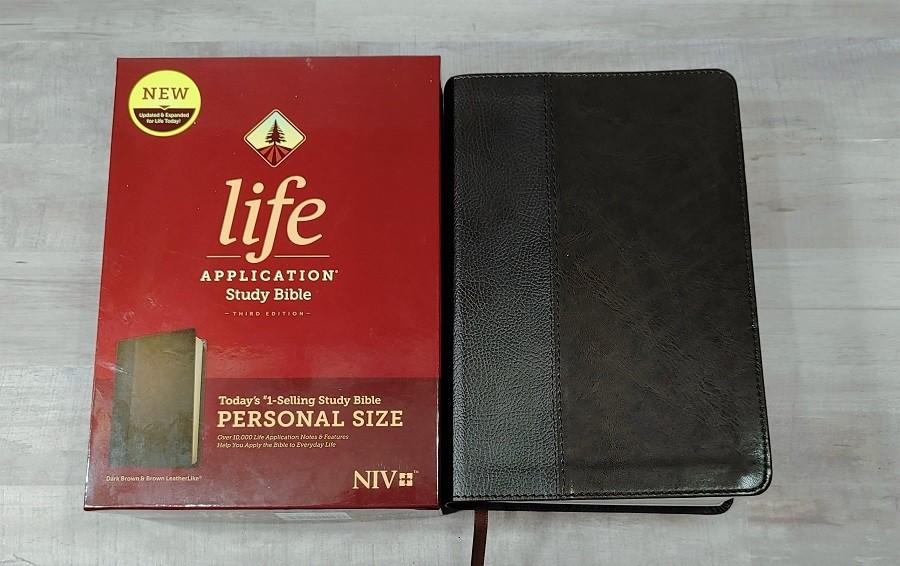 Personal Size NIV Life Application Study Bible Cover & Box