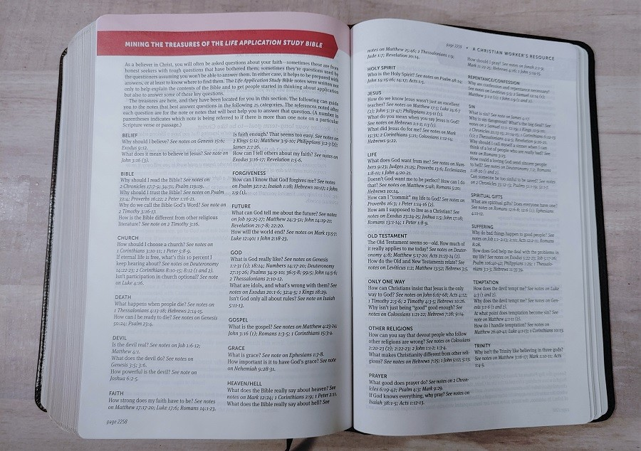 Mining the Life Application Study Bible
