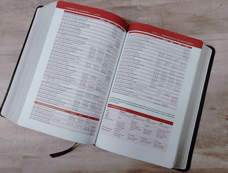 Personal Size NIV Life Application Study Bible Harmony of the Gospels