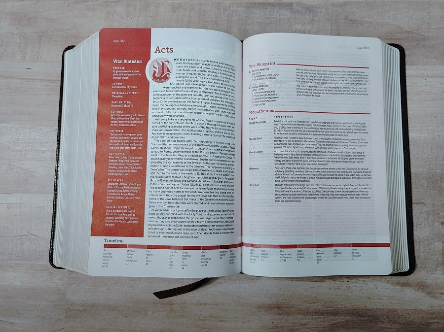Personal Size NIV Life Application Study Bible Acts