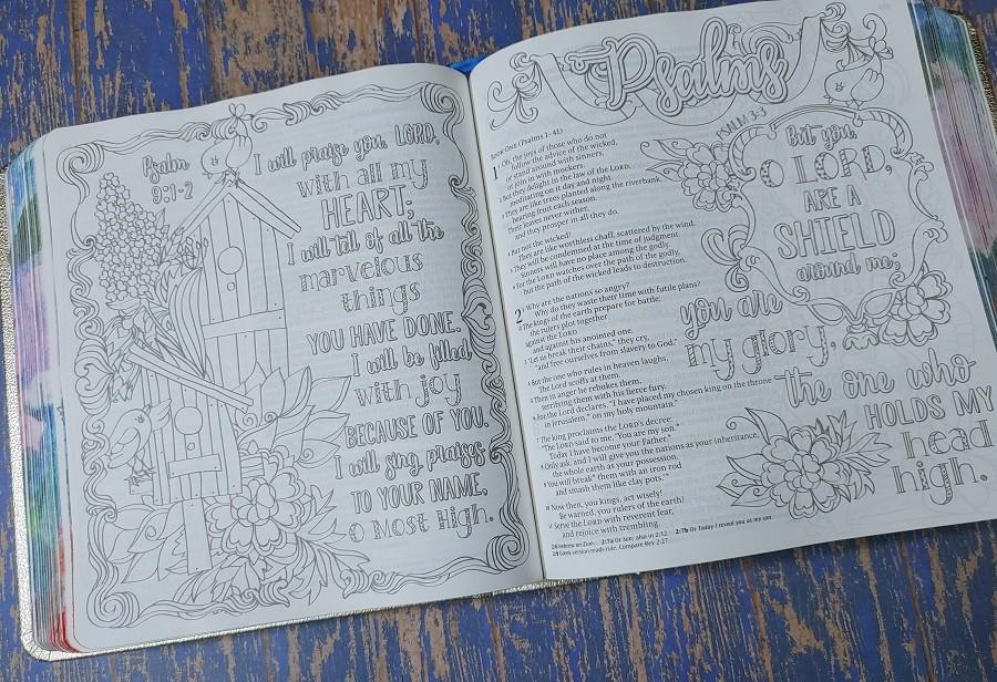 Inspire Prayer Bible Artwork Psalms