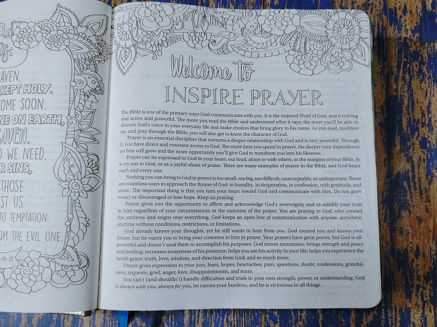 Welcome to the Inspire Prayer Bible