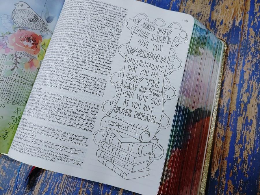 Inspire Prayer Bible Artwork - 1 Chronicles 22:12