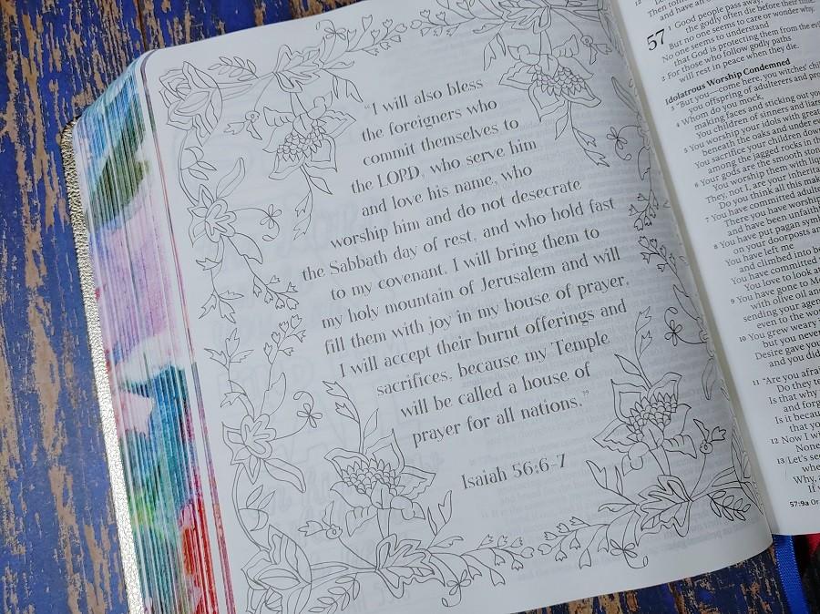 Inspire Prayer Bible Artwork - Isaiah 56:6-7