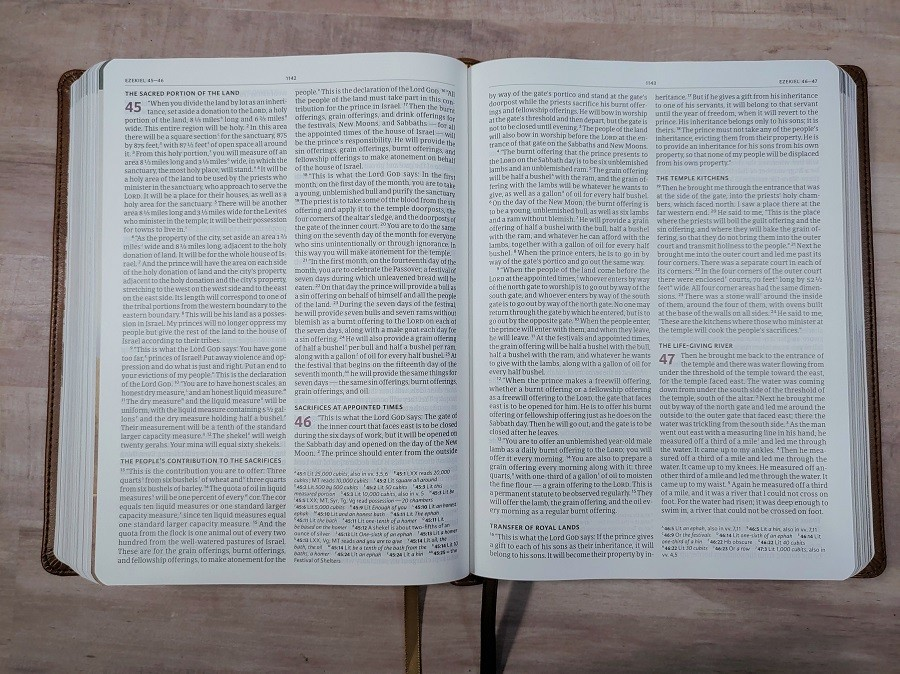 CSB Holy Land Illustrated Bible Layout