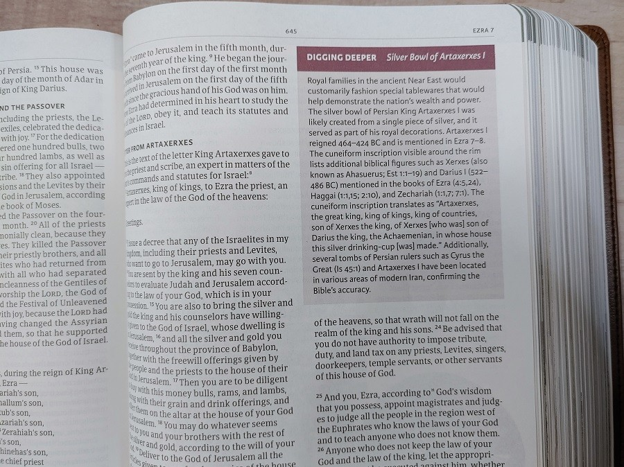 CSB Holy Land Illustrated Bible Digging Deeper