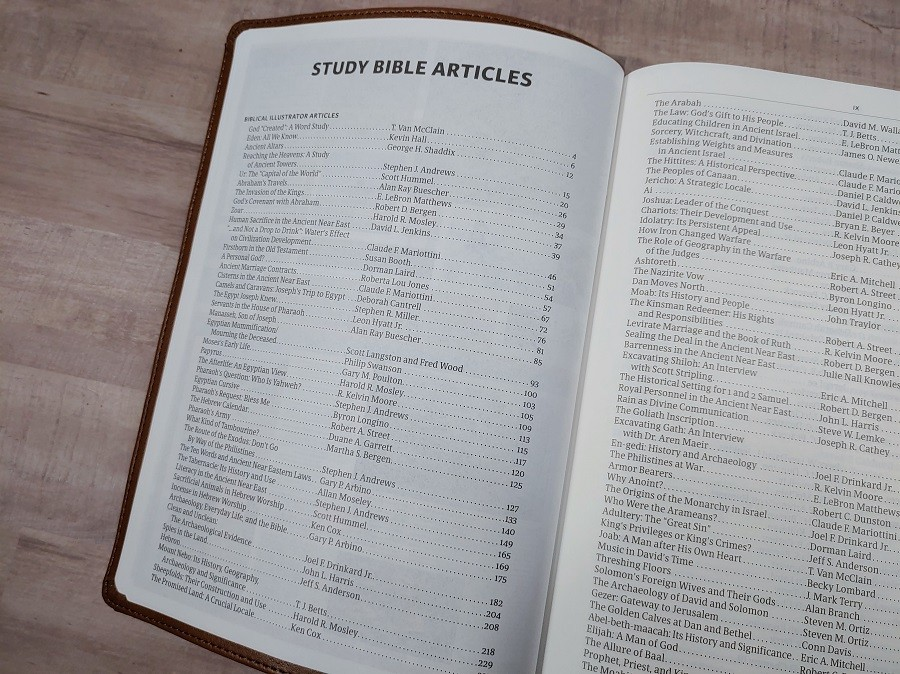 CSB Holy Land Illustrated Bible Article Index