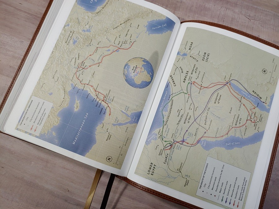 CSB Holy Land Illustrated Bible Back of Bible Maps