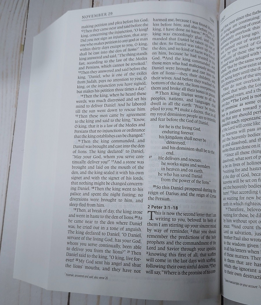 ESV One Year Bible Paper