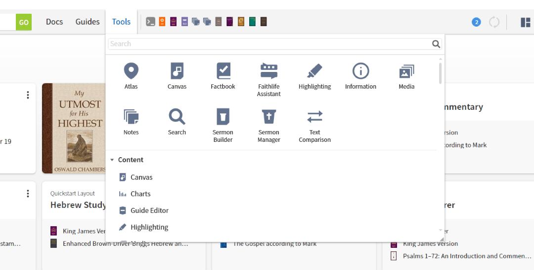 Logos 9 User Interface