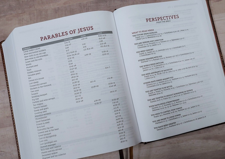 NASB Journal the Word Reference Bible Lists