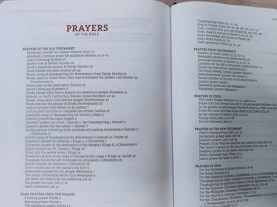 List of Prayers in the Bible