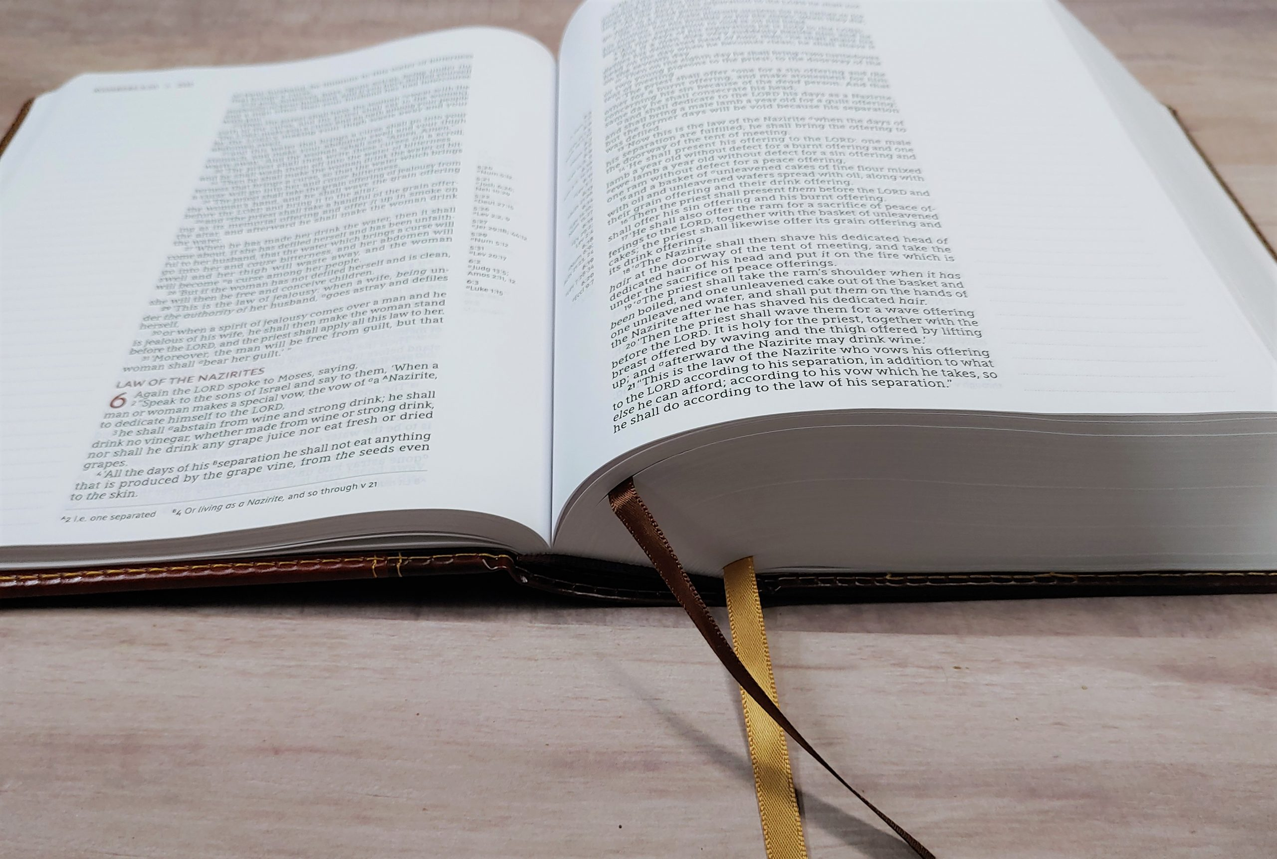 NASB Journal the Word Reference Bible Ribbons and Page Edges