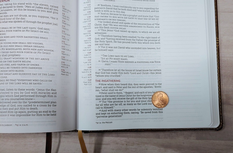 NASB Journal the Word Reference Bible Text Size