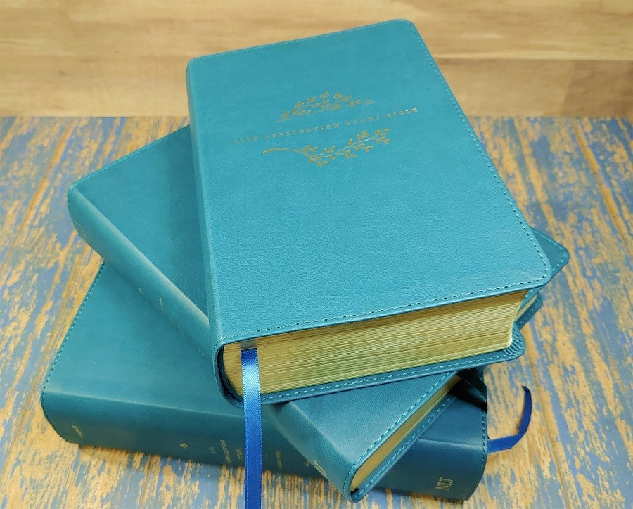 NLT Life Application Study Bibles in Teal
