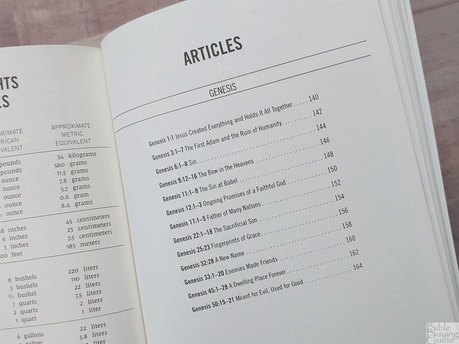 NIV Jesus Bible Journals Article Index