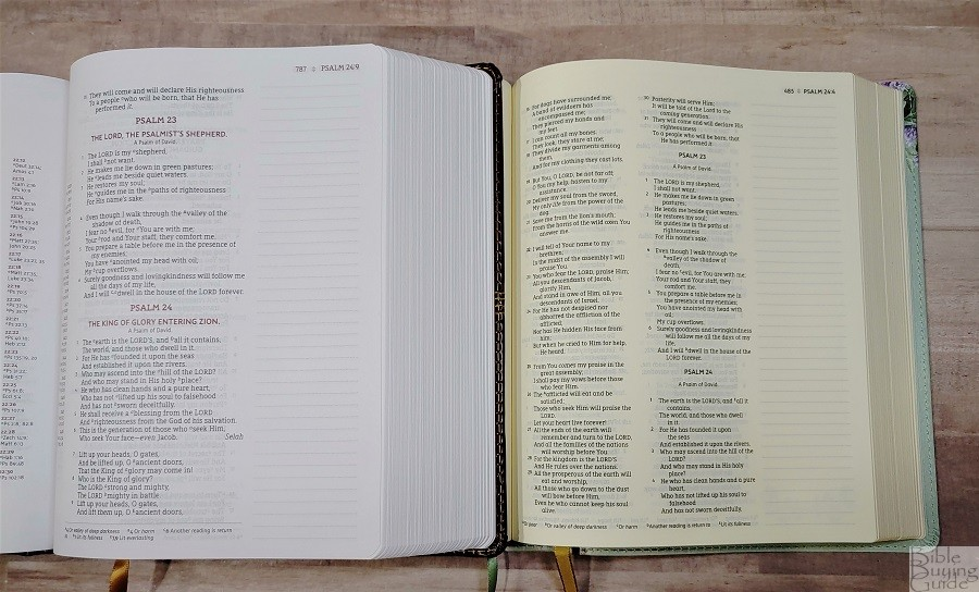 NASB Artisan Collection Bible and Journal the Word Bible Pages