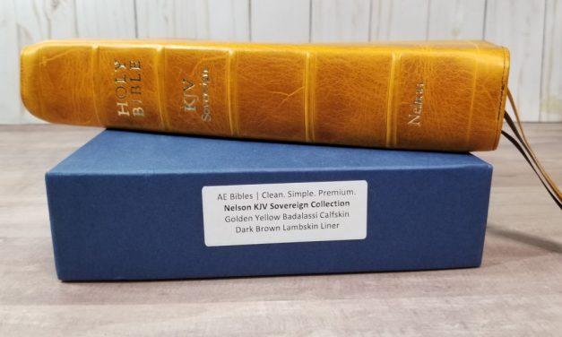 Golden Yellow Badalassi Carlo Bible Rebind from AE Bibles