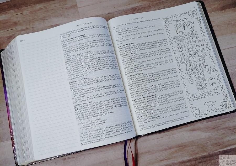 Giant Print Inspire Prayer Bible Paper