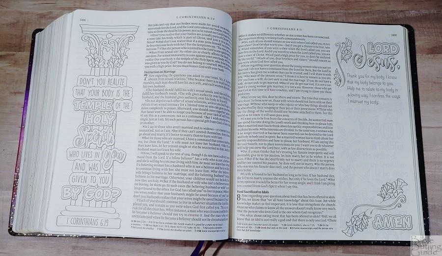 Giant Print Inspire Prayer Bible Prayer Prompt