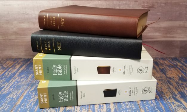 NLT Giant-Print Personal-Size Bible, Filament Enabled Edition