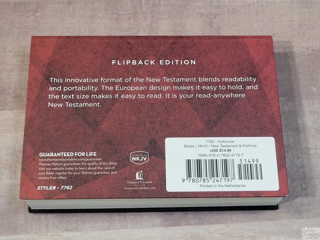 NKJV New Testament Flipback Edition