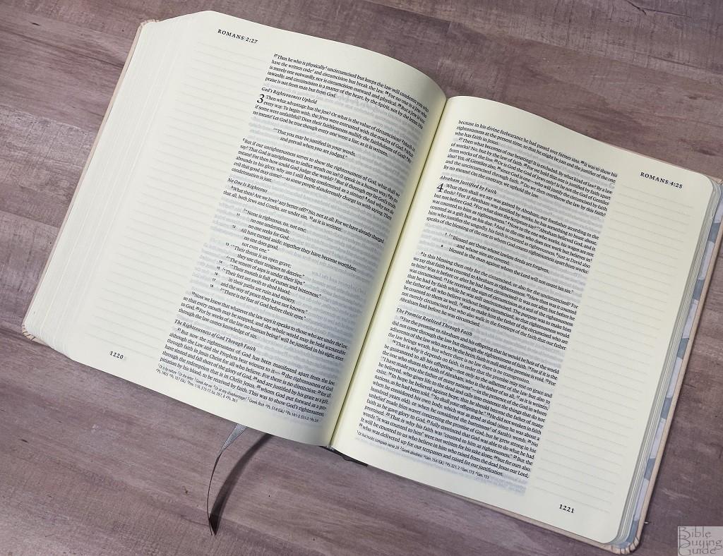 ESV Artist Series Journaling Bible layout